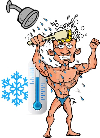 Cold water shower muscle