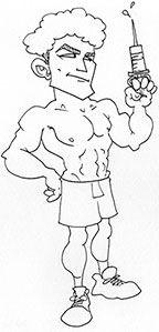 Raf using steroids