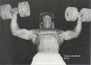 Steve Reeves Incline Dumbbell Press