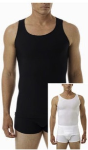 Underworks Mens Microfiber Compression Tank