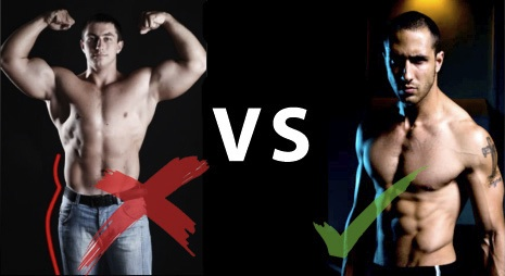 Visual Impact Soft Muscle VS Hard Muscle